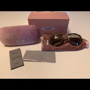 Miu Miu | Tortoise Havana Aviator Sunglasses